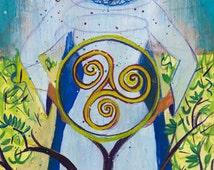 Small Print Goddess Art - Danu, Celtic Mother Goddess