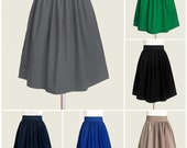 Custom gray skirt - custom size, length and color - 24 colors available