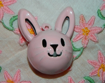 Pink  Easter Bunny Bell Necklace, Bunny Bell, Easter Gift