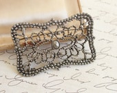 vintage 1920s marcasite brooch pin • antique 20s art deco brooch • vintage silver brooch pin