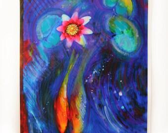 Lovers, 16x20, art, photography, nature, Love, unique wedding gift, wedding gift #Koi art #Painting #Mixed media original #Gina Signore #Art