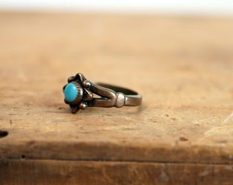 Copper Turquoise Ring • Southwestern Ring • Copper Ring • Turquoise Ring • Cabochon Ring • Mexican Ring • Copper Jewelry • Vintage Ring