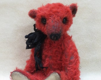 "Immediate Download NEW PDF PATTERN To Make a 9"" Well Loved Teddy Bear By Kim Endlich"