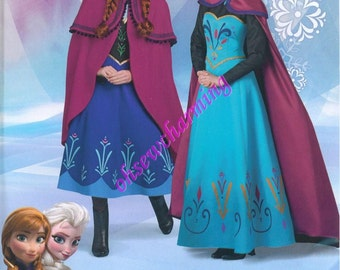 Simplicity 1210 Frozen Costume Sewing Pattern Elsa Anna Womens Sizes 14-16-18-20-22