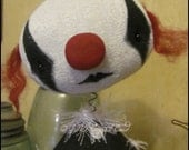 Clown Balloon dog free-standing Doll Whimsical bobble head creepy Circus Goth cute country home decor Quirky Primitive doll hafair ofg team