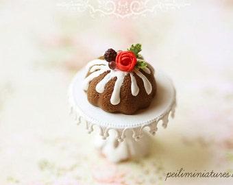 Miniature Food - Blackberry Chocolate Bundt Cake