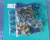 Assorted Craft Beads Lot Supply Destash Wooden Glass Czech Multi Seed Turquoise Plastic Matric Arrowhead Cabochons Jewelry D98