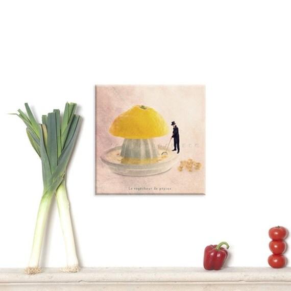 photography canvas, canvas print, Canvas Gallery Wrap, Wall Art Canvas, Photo Canvas Prints, Lemon print, Yellow Kitchen Decor, Lemon