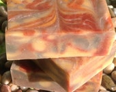 Calypso Soap, vegan, 5 to 6 oz bar, colored with clays and botanicals, essential oils