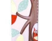 Fox and Woodland Critters Canvas Growth Chart