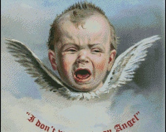 I Dont Want To Be An Angel cross stitch pattern No.320