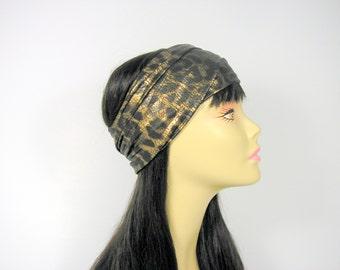 Animal Print Lycra Head Wrap Swim Head Wrap Swim Turban Headband Gold Head Wraps Turban Head Wraps Turban Headbands Animal Print Head Wraps