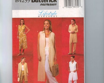 Misses Sewing Pattern Butterick B4239 Misses Lifestyle Wardrobe Easy Misses and Petite Jacket Dress Size 14 16 18 Bust 36 38 40 UNCUT  99