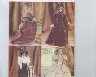 Doll Sewing Pattern Vogue 9759 11 1/2 Inch Doll Barbie 19th century Victorian Dress Hat Linda Carr Historical UNCUT