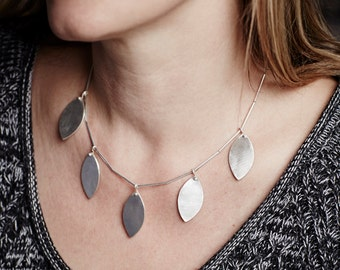 Modern Leaf Necklace One of a Kind Ready to Ship