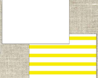 Stripe Note Card, preppy note card, personalized note card, double sided printing, set of 25