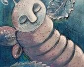 "Painting Original 8 x 10 x 1.5"" mixed media - Metamorphosis - oddimagination"