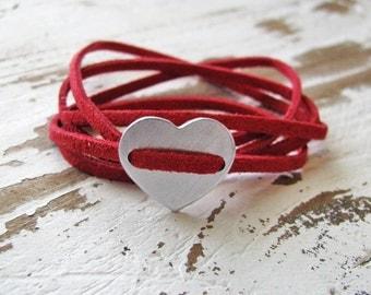 heart wrap bracelet - valentine's day gift