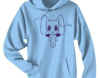 Pastel Goth Hoodie kawaii creepy cute hoodie robot bunny sweatshirt kawaii clothing cute hoodie harajuku rabbit anime decora casual lolita