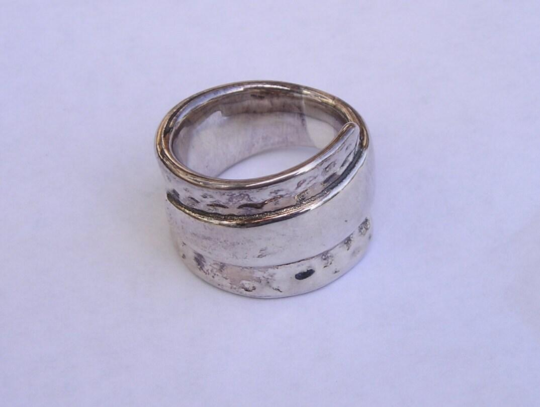 vintage cigar band sterling ring size 7