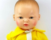 Vintage 1977 Horsman Drink and  Wet Baby Doll Vinyl Infant Baby Doll Beautiful Features