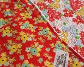 Set of 2 Burp cloths  Red Floral
