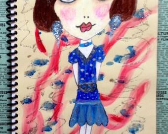 Flapper Girl Art Journals, Big Eyes Art, Writers Journal, Unique and Handmade