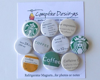 STARBUCKS Magnets COFFEE LOVER'S Refrigerator Magnets