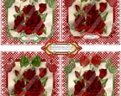 Valentine 1425 Coaster-Tiles Printable Handmade Digital Collage Sheet