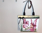 Pink Faery Horse Amy Brown tote bag, book tote, large purse, canvas tote, shoulder bag