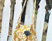 Bohemian Purse, Yellow Ikat Cross Body Handbag, Hipster Bag, Hipster Purse, Tribal Purse, Tribal Handbag, Tribal Print Handbag, Purse
