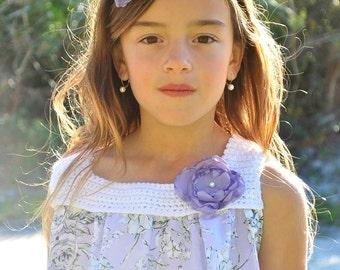 Rose Headband - Boho headband - flower girl headband - girls headband - baby headband - Wedding headband - Photo shoot props - hair clip