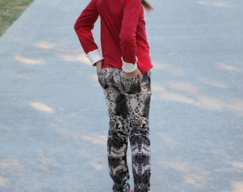 Sabrina Skinny Pants PDF sewing pattern Sizes 1/2-16