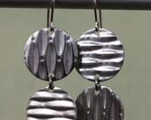 Light Asymmetry - Upcycled Stainless Steel Earrings