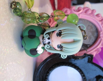 Anime Goth Vampire Girl Necklace