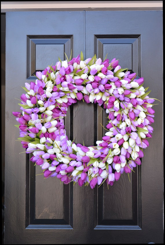 Spring Wreaths- Lavender Wreath- Mother's Day Gift- Spring Decor- Easter Wreath- Easter Decor- Wedding Wreath- Gift for Mom