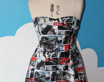 walking dead comic sweet heart dress - any size.