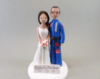 Cake Topper Bride & Groom Custom Handmade Wedding