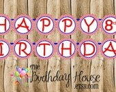 USA Gym Girls Party Banner - Custom Gymnastics Party Banner by The Birthday House