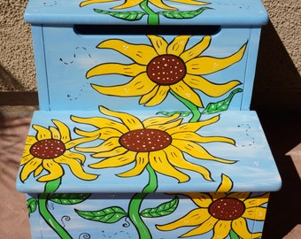 Sunflower Stool Etsy
