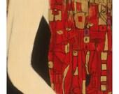 Woman in Crimson Mosaic