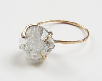 SALE Herkimer Diamond GF Ring