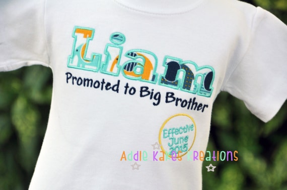 Personalized Kids Pregnancy Announcement Shirt / Big Brother to Be / LONG Sleeve