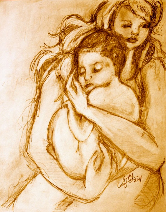 In My Arms: Art Prints In Various Sizes