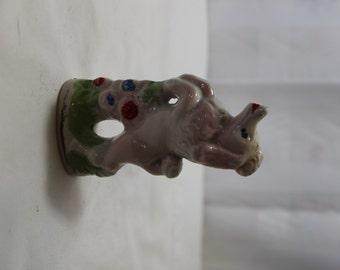 Vintage Pink Poodle Figurine, Japan
