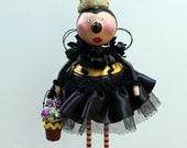 Folk Art Bumblebee Bee Whimsical Sculpted Art Doll