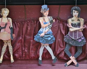 burlesque paper doll trio - DOWNLOAD
