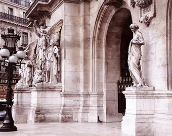 Paris Photography, Opera House Street Lamps, Paris Opera Art Nouveau Architecture, Paris Opera House Lanterns Statues, Parisian Art Prints