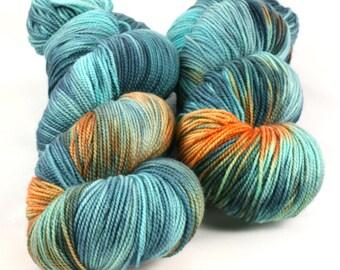 FAVE sock weight yarn, KOI POND