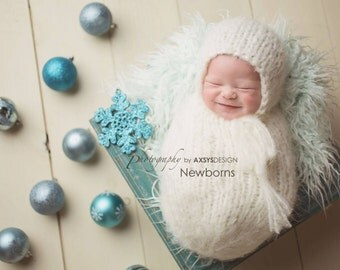 Newborn Bonnet Pattern, Newborn Swaddle Sack Pattern, Newborn Hat Pattern, Knitting Pattern, Newborn Pattern, Newborn Cocoon Pattern